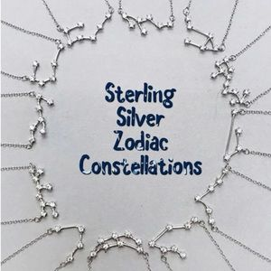 Sterling Silver Constellation Celestial CZ Necklac